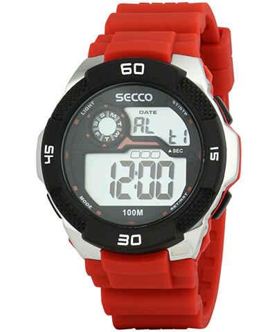 56d3a635e SECCO, červené pánské hodinky - Glami.cz