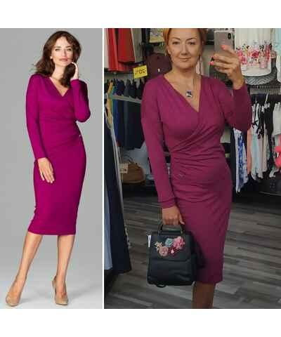 bc9f08e04223 Jednofarebné Šaty z obchodu Modalux.sk