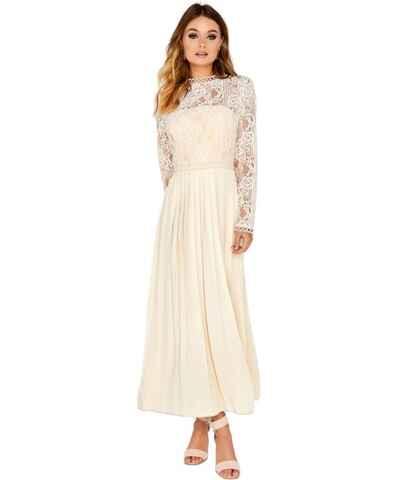 Little Mistress bílé maxi šaty - Glami.cz e04c0bd1138