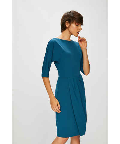 Tmavě modré letní zlevněné šaty s krátkým rukávem - Glami.cz 60a6dce6a86