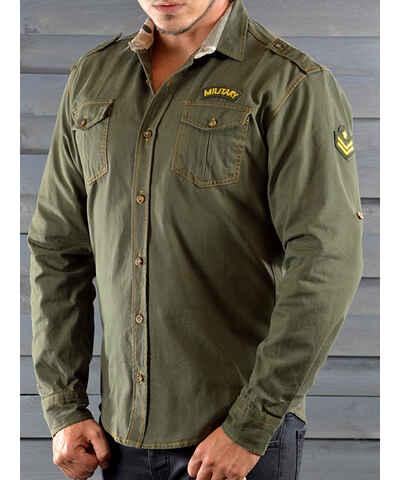 6620b4805f4 Zelené pánské košile