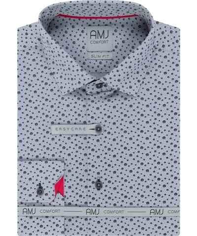 AMJ modré pánské košile - Glami.cz 2368d7c31f