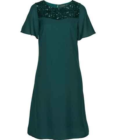 efe99b08bc4 Zelené letní šaty s krátkým rukávem - Glami.cz