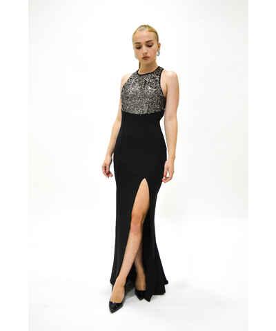 Asos černé šaty s flitry - Glami.cz 30b22279b3