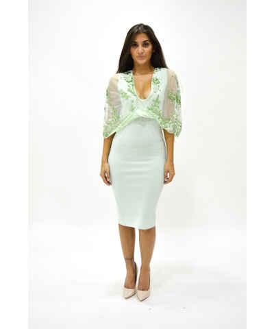 Asos zelené pouzdrové šaty - Glami.cz 7e750d1b75