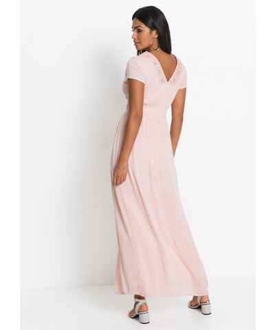 555fbb06be Růžové šaty s výstřihem do v