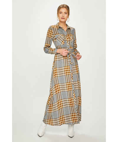 Žluté maxi šaty se vzorem - Glami.cz 1cd78e096e