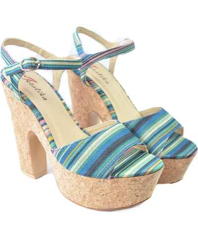 6e8713f48 John-C, Modré Dámske sandále | 20 kúskov na jednom mieste - Glami.sk
