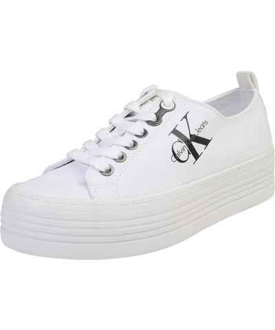 1f84c70b9 Calvin Klein, bílé dámské boty na platformě - Glami.cz