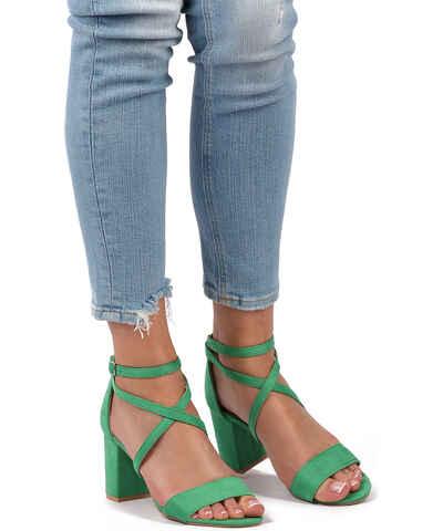 0a6355b546ff Zelené Dámske topánky