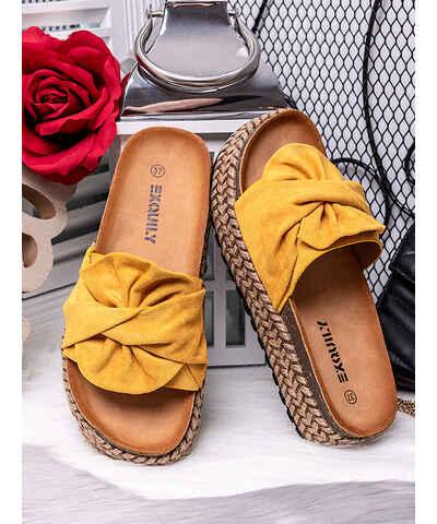 Žluté dámské boty  48be3a6ef4