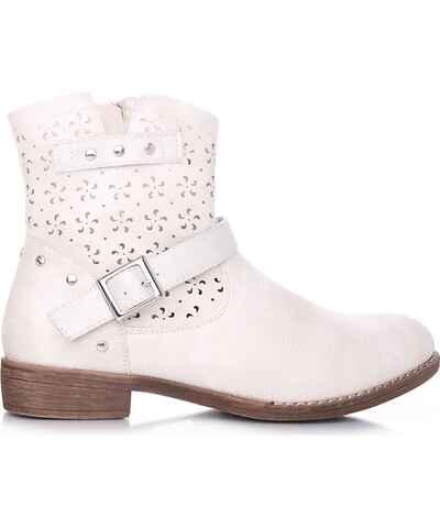 c43cd11a01 Bílé dámské kozačky a kotníkové boty