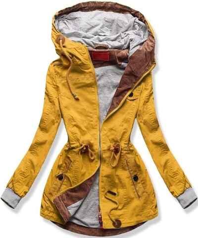 Žlté Dámske bundy a kabáty  ced8b974d8a