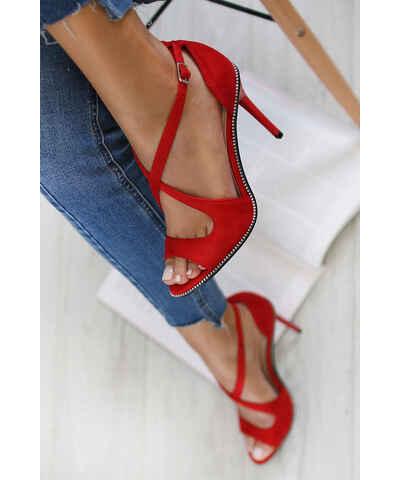 313af8035c8e Červené Dámske sandále