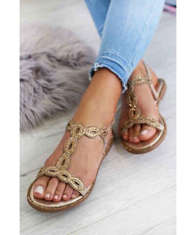 960874dc1b0c Zlaté Dámske sandále