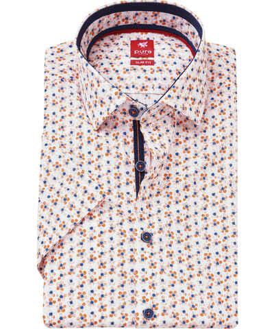 22037274526d Oranžové pánské košile s krátkým rukávem