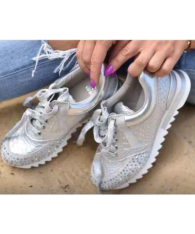 9d1cb0454728 Stříbrná dámské tenisky