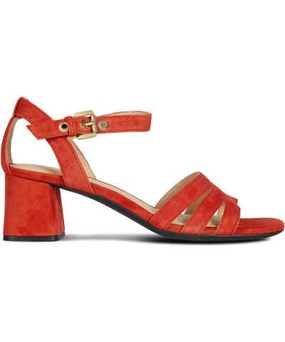 0947bec77f81 Červené Dámske sandále prémiových značiek
