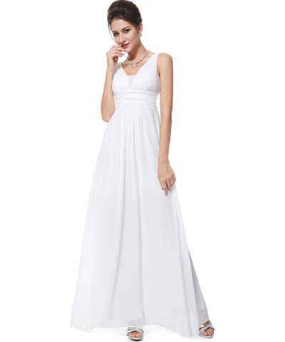 Bílé šifonové maturitní společenské šaty - Glami.cz 950dd54f721