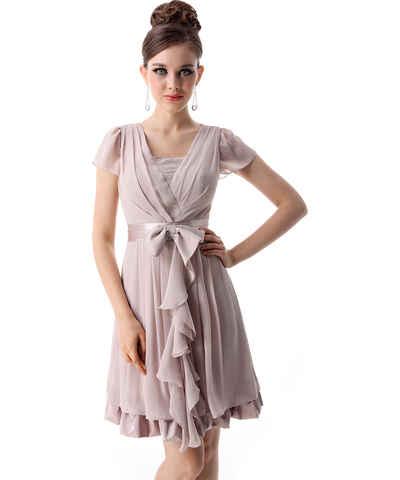 Ever Pretty hnědé šaty - Glami.cz 3731d75954