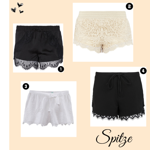 Spitzen-Shorts
