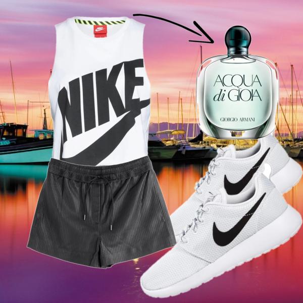 Nike-Outfit mit dem Duft der 2 Elemente Luft & Wasser