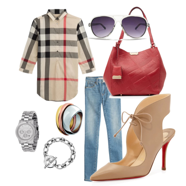 Burberry outfit