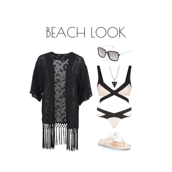 B+W Beach look
