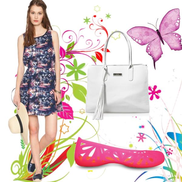 Krásně barevné letní šaty Tom Tailor Denim