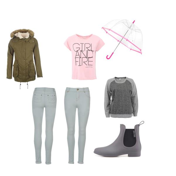 outfit do deštivého počasí