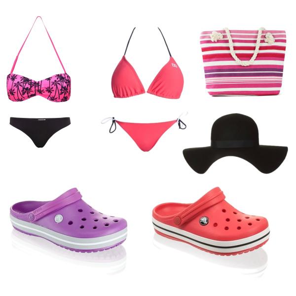 dva plážové outfity