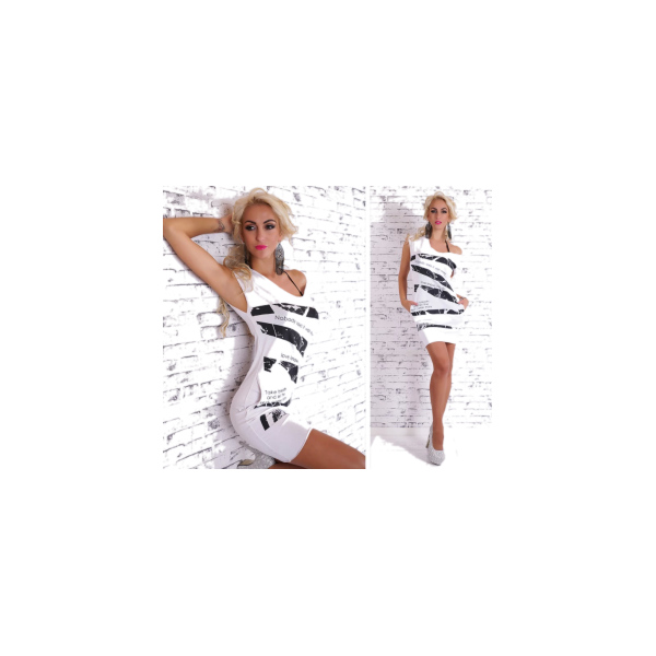 bílé šaty