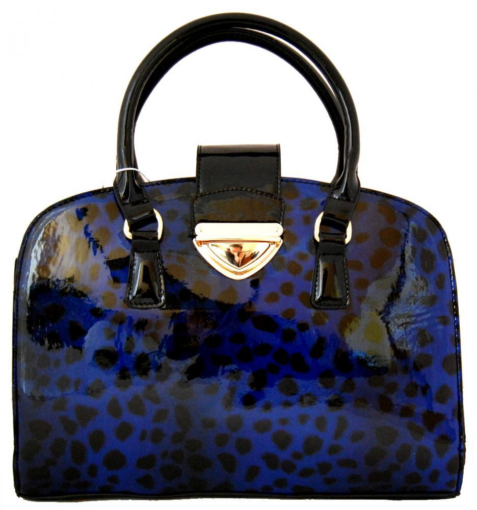 Lesklá modrá kabelka do ruky fasco Berlin 2002-879 - Glami.cz 4864c8b6982