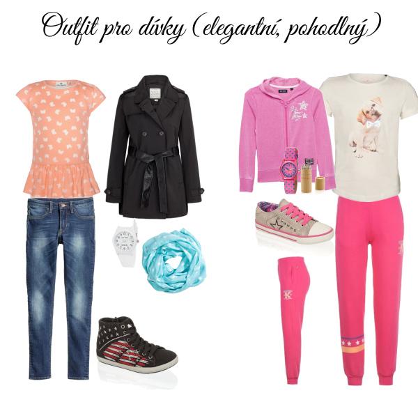 Outfit pro dívky (elegantní, pohodlný)