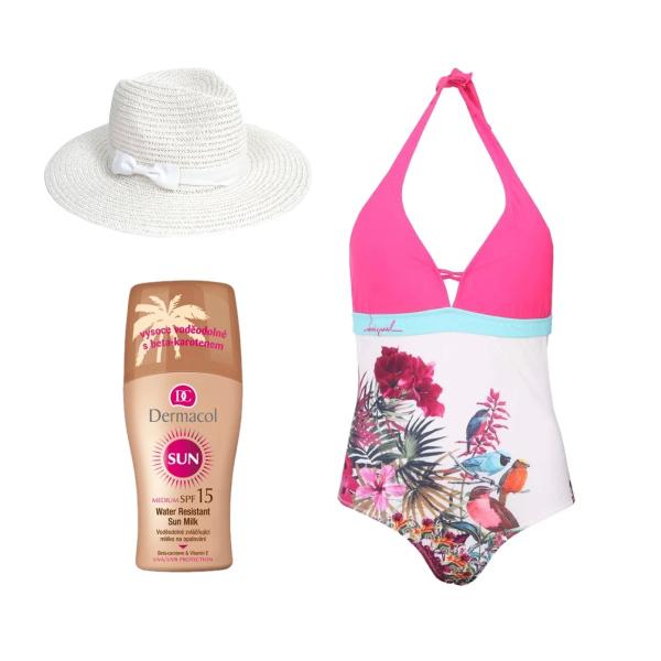 plavky-růžová