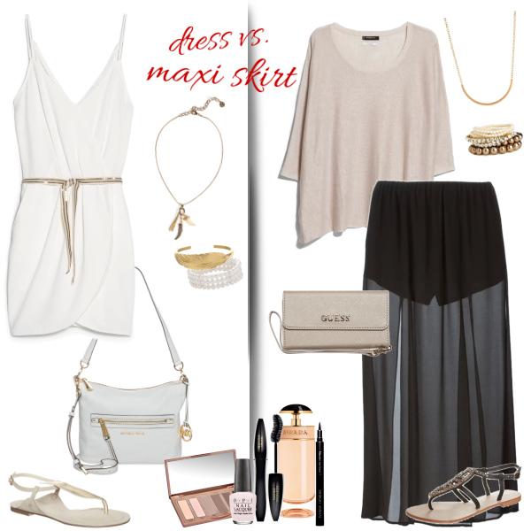 dress vs. maxi skirt