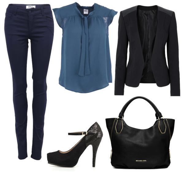 Modrý outfit