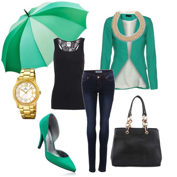 Elegence s deštníkem