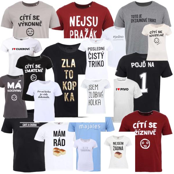 Čeština na tričkách