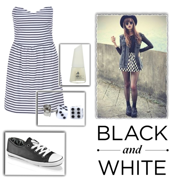 bílá a černá