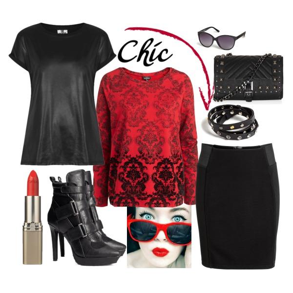 Chic červená