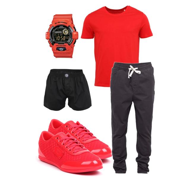 men in red