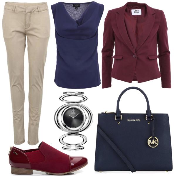 Modrovínový outfit