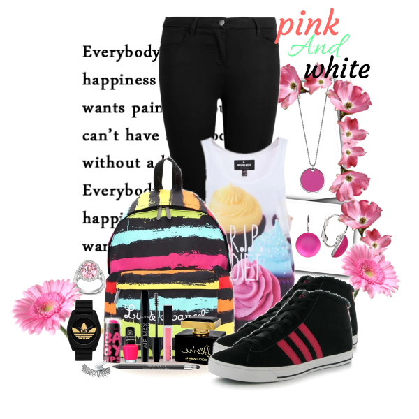 pink and white!