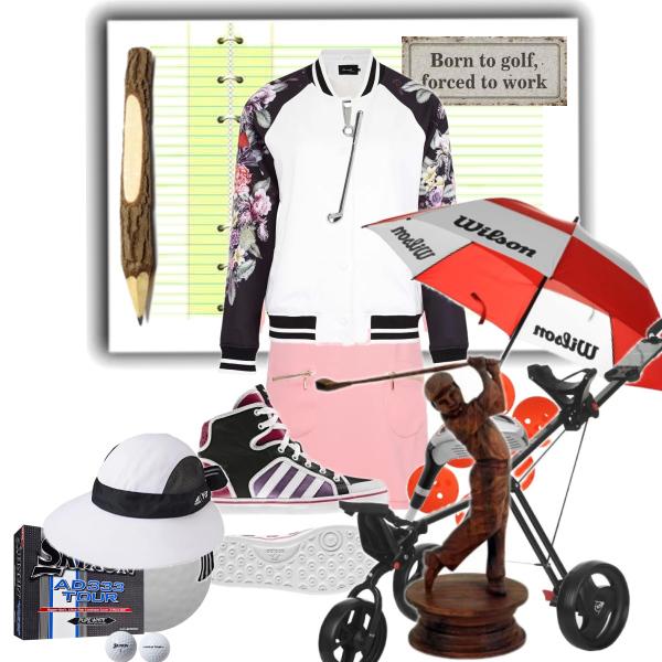 Golf v jarní bundičce