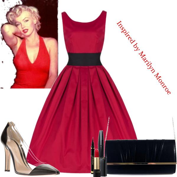 Marilyn Monroe red dress