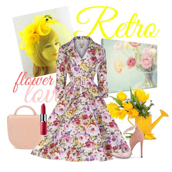 Retro flower love