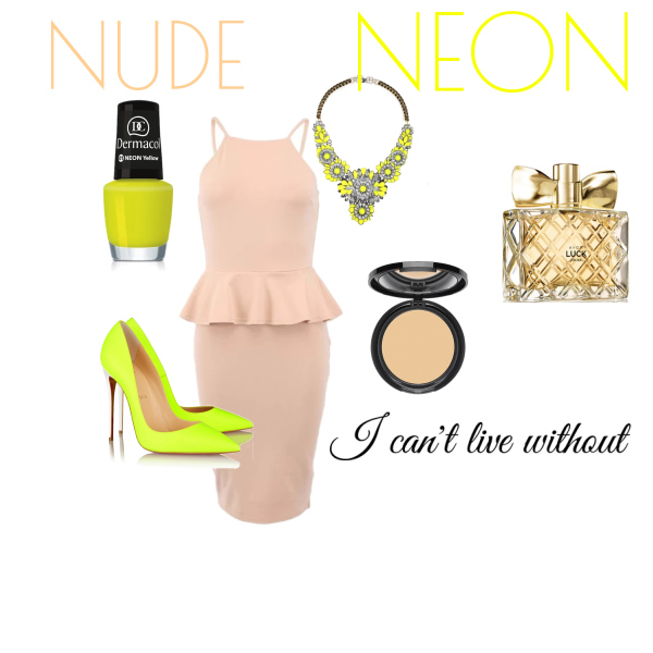 nude with neon