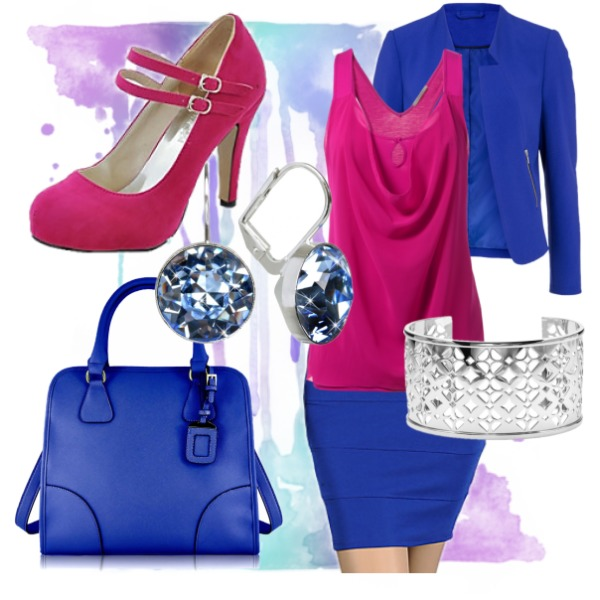 Modrorůžová kombinace