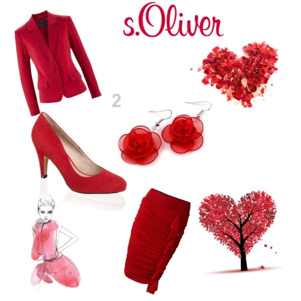 romantická červená moda